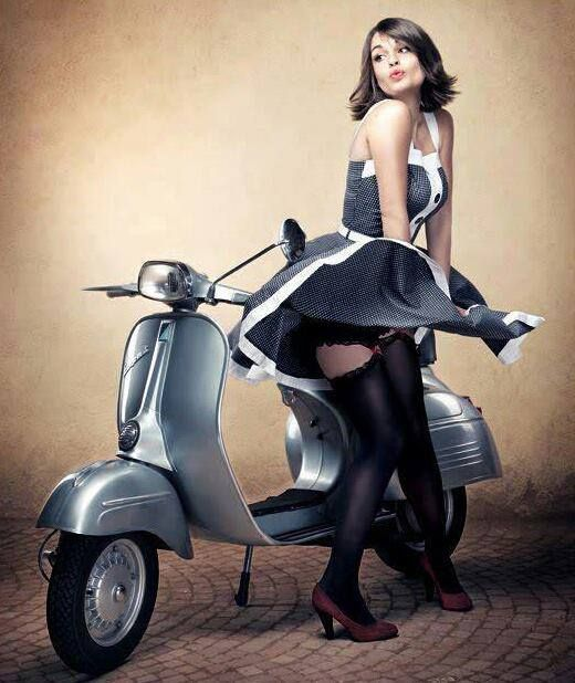 947 Best Girls On Scooters Images On Pinterest