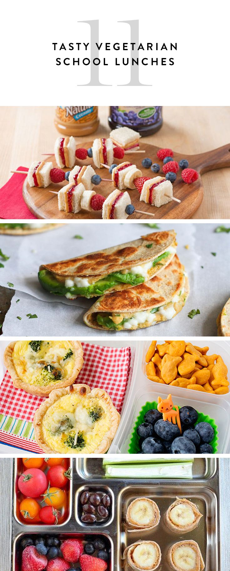 These vegetarian school lunches are healthy and delicious.
