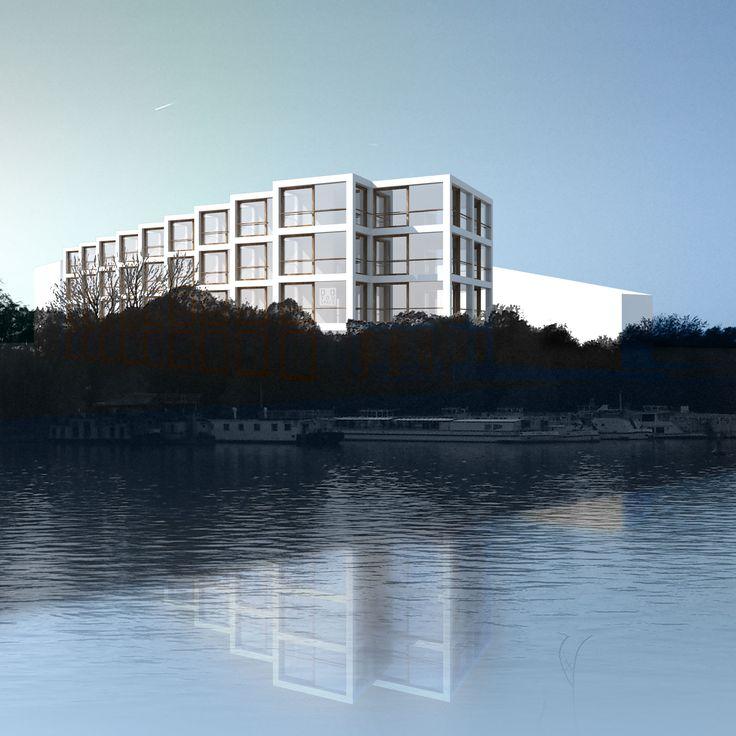 Riverside housing on the Spree