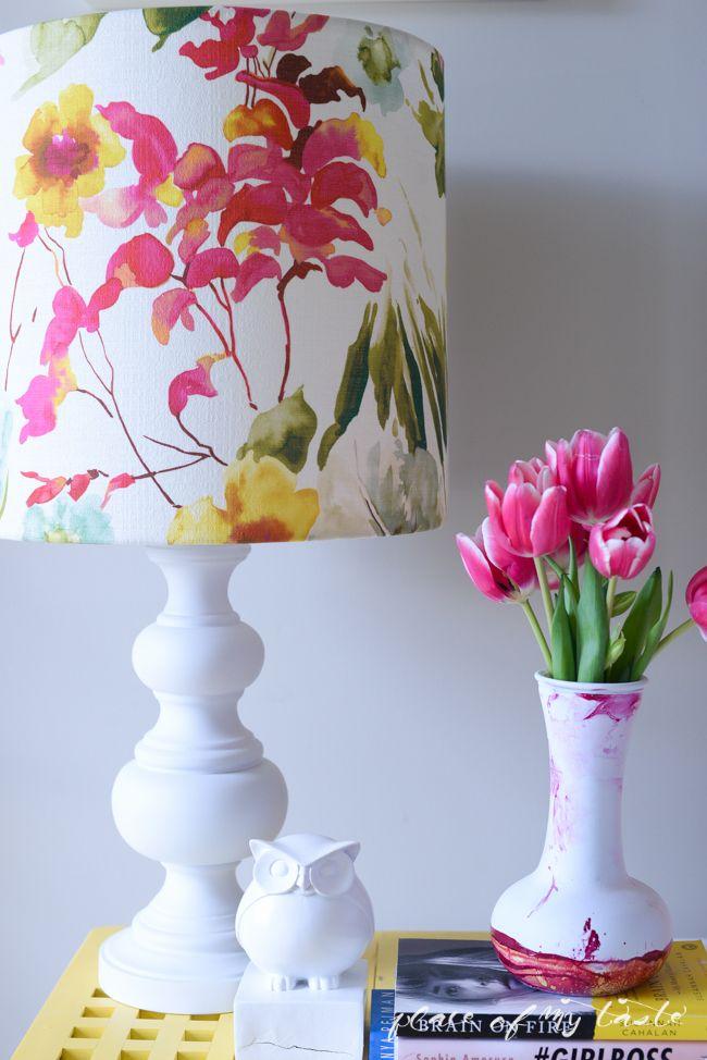 DIY LAMP SHADE- I LIKE THAT LAmp - this would make a beautiful handpainted cake...