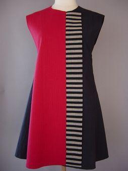 Princess LIne Lapel Vest in Black with 3 Silk Accent Stripes: