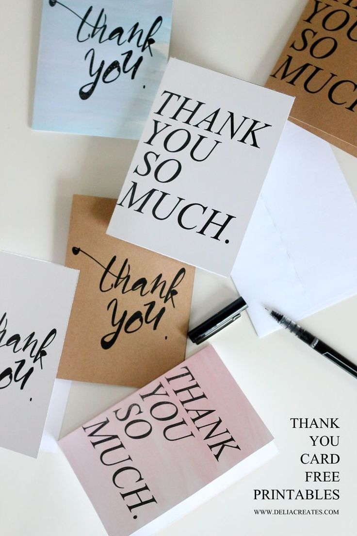 Make someone's day by sending them an impromptu Thank You card. Whether you have an occasion or not, its always nice to let your loved ones know that you appreciate them. These Free Printable Thank You Cards are perfect for spreading the love.