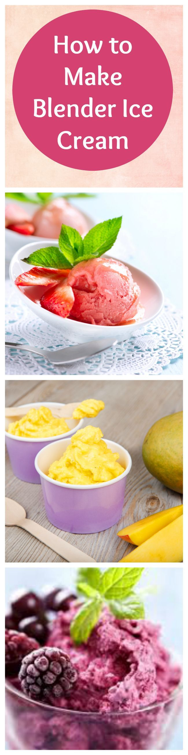 How to make healthy ice cream using your blender.