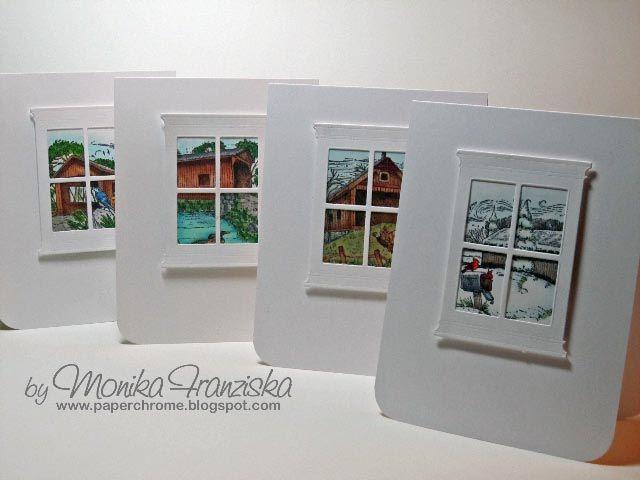 View of the Seasons - Madison Window die.Memories Box