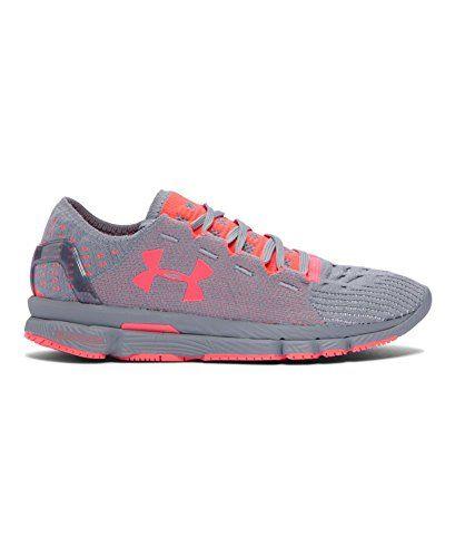 Under Armour Women's UA SpeedForm Slingshot Neon Running Shoes 7.5 Steel * Visit the image link more details.