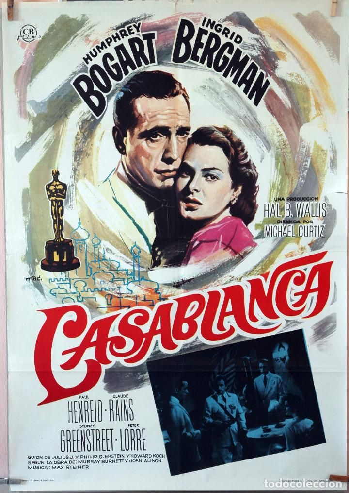 [link] Casablanca is a 1942 American romantic drama film directed by Michael Curtiz and based on Murray Burnett and Joan Alison's unproduced stage play Everybody Comes to Rick's. The film stars Humphrey Bogart, Ingrid Bergman, and Paul Henreid https://en.wikipedia.org/wiki/Casablanca_(film)