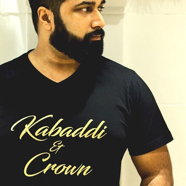 We collaborate only with the best. Very proud to be working with #nickduggal on his one of a kind #kabaddi&crown gold foil tshirt.   Limited edition. Support our good friend and this awesome comedian and entrepreneur.  Details at brownmanclothing.com.   #creativedesigns #besttshirts #desi #madebrown #bebrown #desiproud #brownmantshirts
