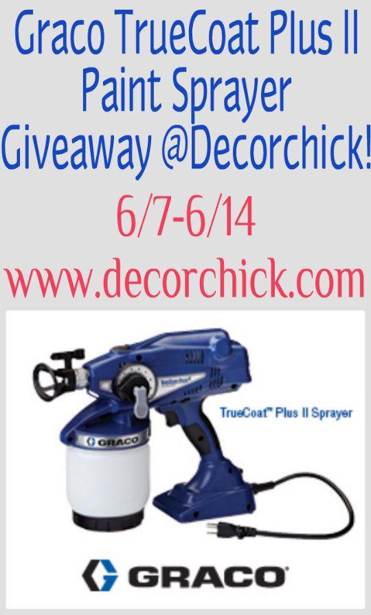 Graco TrueCoat Plus II paint sprayer giveaway!