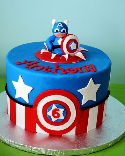 34 best Cakes images on Pinterest Captain america cake Birthday