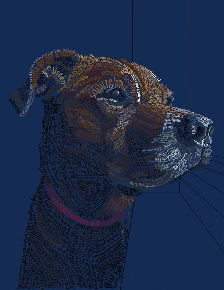 typography portrait of my dog