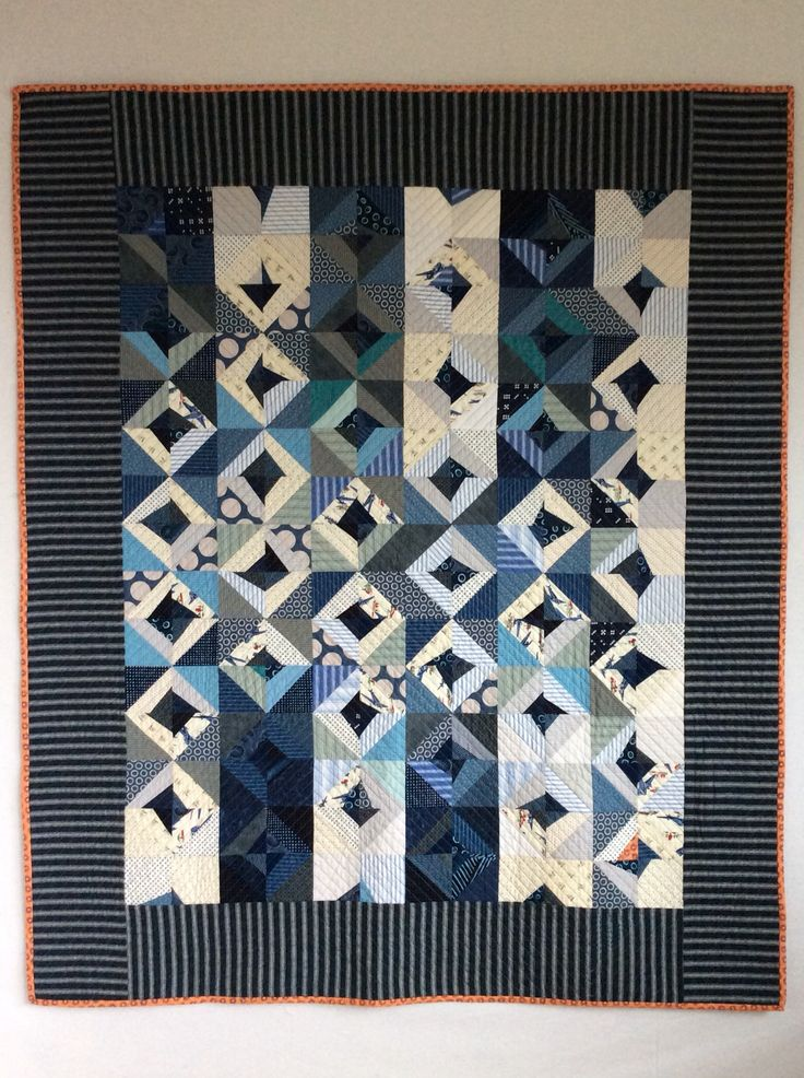 2014 year of quilt making, the blues thing, Susan Borger