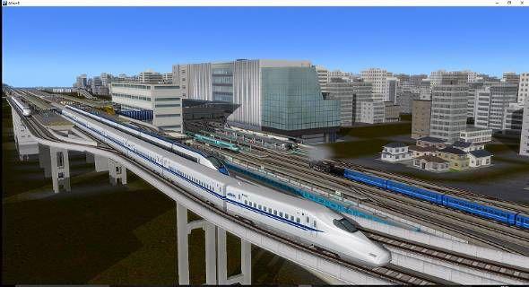 2015年に拡張パック『A列車で行こう9 Version4.0 マスターズ』と『A列車で行こう9 JR東海パック』が発売された。実在の鉄道車両が登場し、現実味のある風景が描かれる(C)2015 ARTDINK. All Rights Reserved.