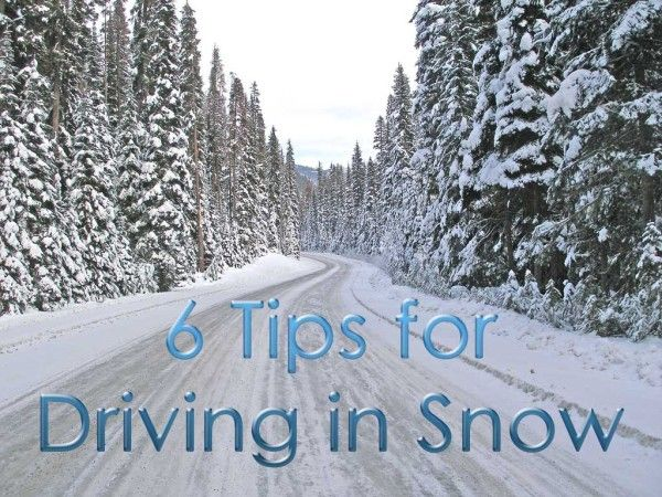 Planning a trip to a snowy destination? Here are six helpful tips for safely driving in snow.