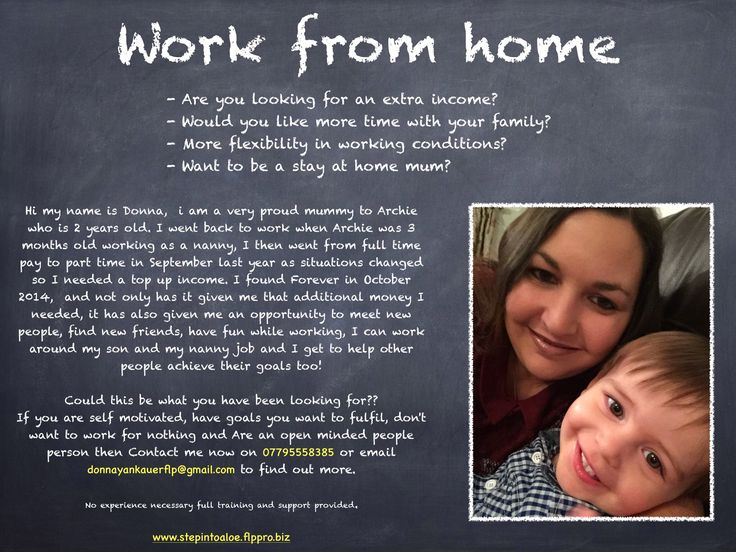 Working from home around your children and current commitments to give yourself a top up income or to replace your current income. Working part time hours you can achieve a full time income.