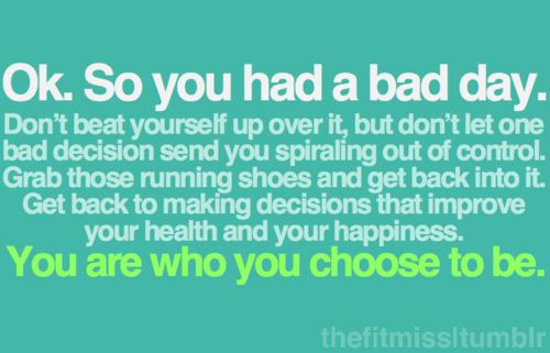 You are who you chose to be.