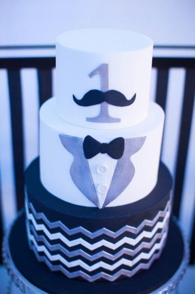 Jared's Black and White Little Gentleman Themed Party – 1st Birthday - Party Doll Manila
