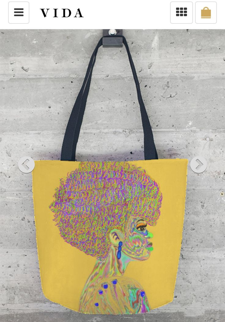 Tote Bag - Trippy Bug by VIDA VIDA Gvy2PJd
