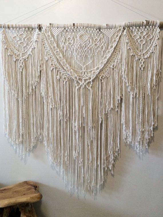 1000 id es sur le th me macrame curtain sur pinterest macram tentures murales en macram et. Black Bedroom Furniture Sets. Home Design Ideas