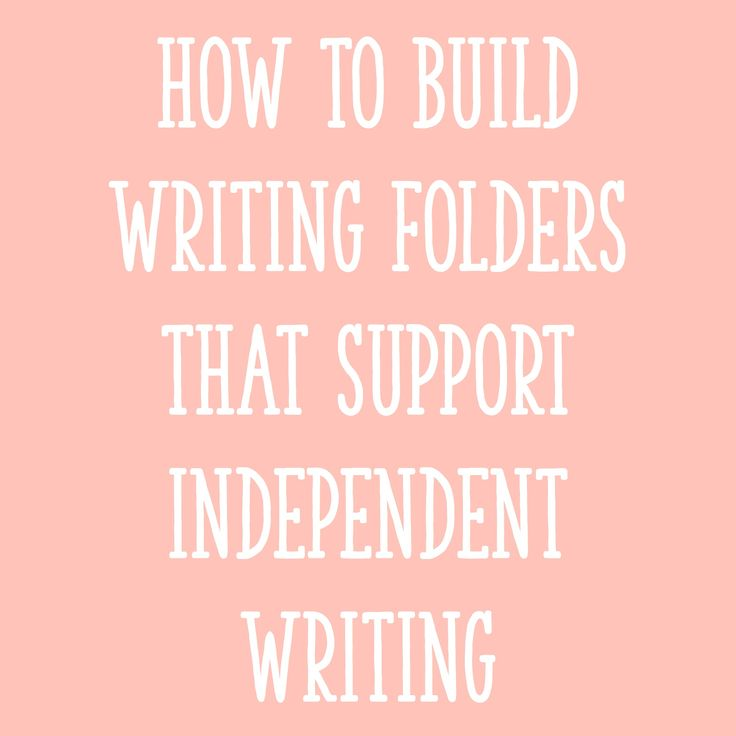 If you want yourstudents to work more independently during writing time, usingwriting folders is a great step in that direction! In this post, I'll describe (in detail) what I put in my students' writing folders