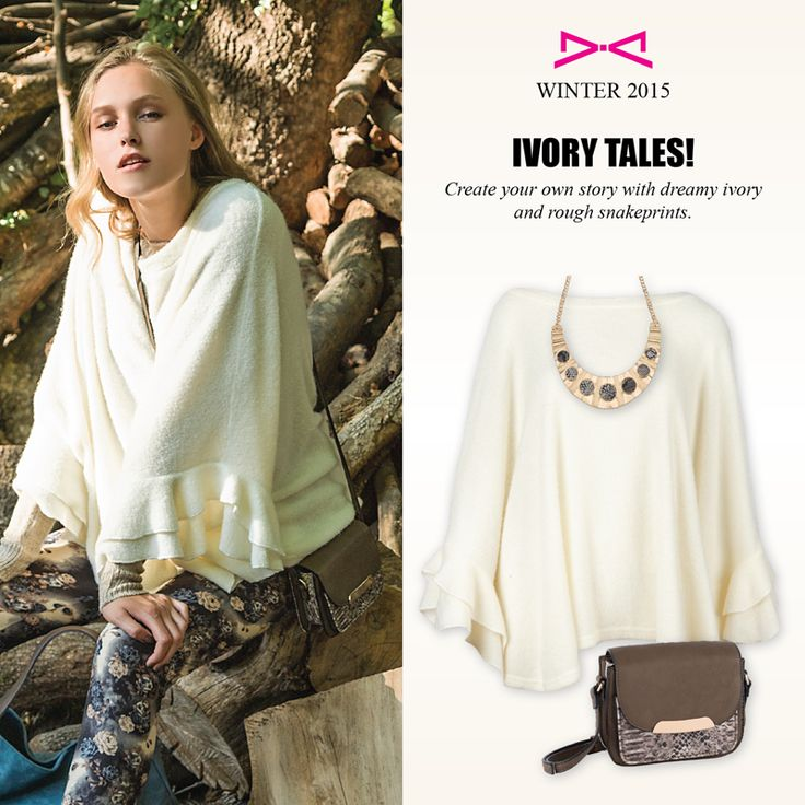 Ivory tales for wonderful looks.  Choose your own with #achilleas_accessories