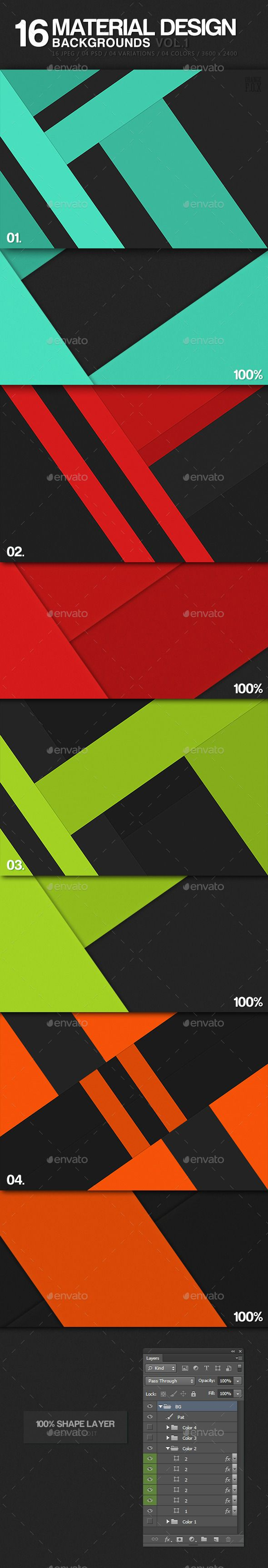 16 material design backgrounds vol 1