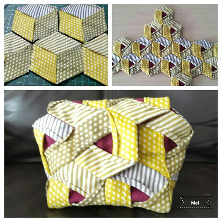 Origami quilt pouch