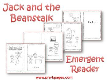 jack and the beanstalk emergent reader printable book