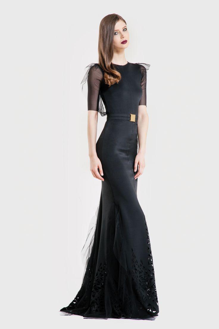 Storm Double layered long dress/ Tinsel belt www.murmurstore.com