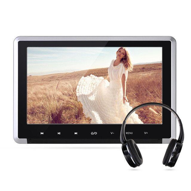 10.1 inch Digital TFT LCD Screen 1024*600 Car Monitor Headrest DVD Player Built-in Hitachi Lens USB SD HDMI Port Support 1080P