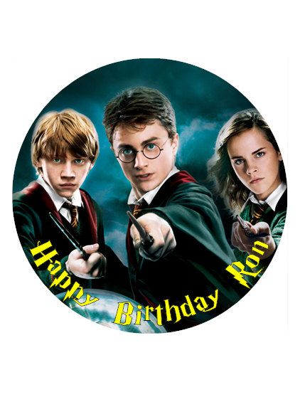 "Harry Potter Personalised Cake Topper 8"" circle Wafer paper/Icing sheet birthday decoration by LaylahMoorecakeart on Etsy https://www.etsy.com/listing/509451609/harry-potter-personalised-cake-topper-8"