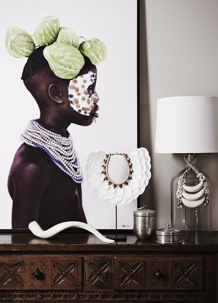 Love this print! (White Tribal Scalloped Shell Neckpiece - Home By Tribal)
