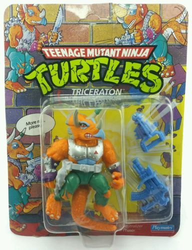 Vintage ☆ triceraton teenage mutant ninja #turtles figure moc #carded #sealed 9,  View more on the LINK: http://www.zeppy.io/product/gb/2/282322531330/