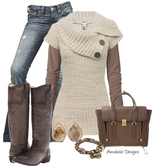 """""""Sweater restyle"""" by amabiledesigns ❤ liked on Polyvore"""