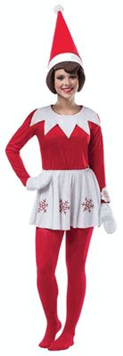 Elf on the Shelf Dress - Women's Elf on the Shelf Costume