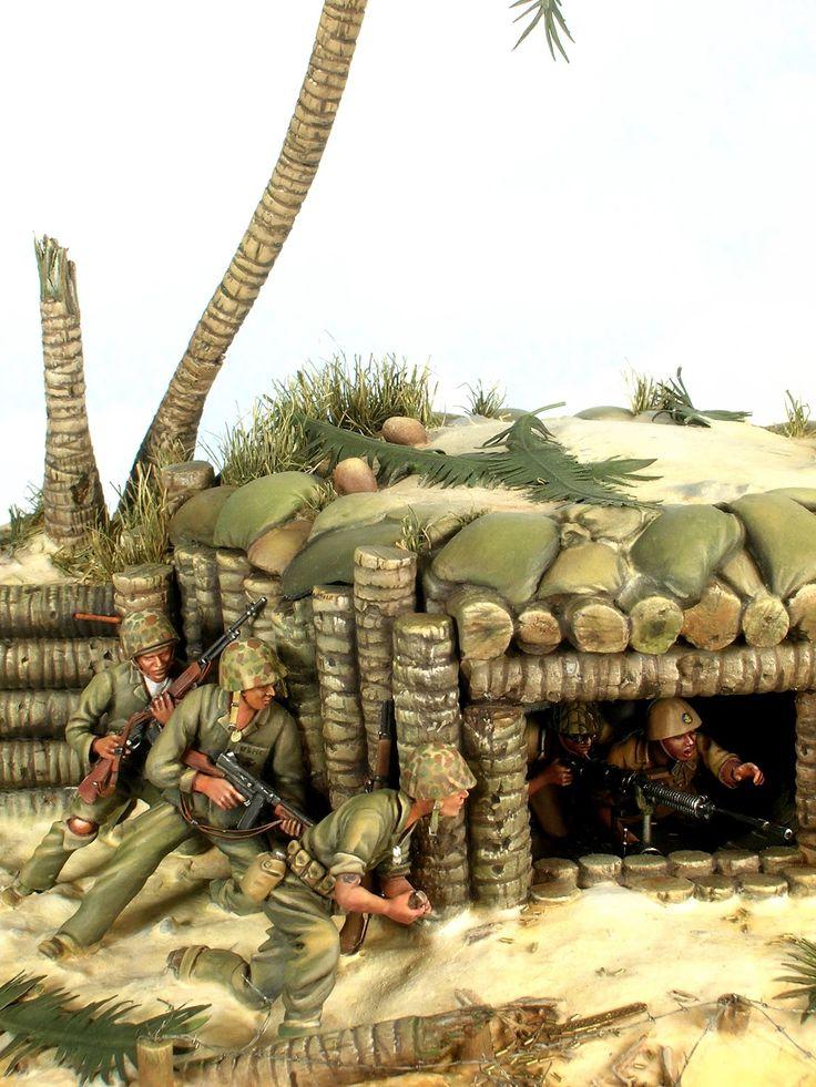 "MODELISMO Y MODELISTAS ""THE MASTERS"" II (ANEXO DIORAMA): ""Battle of Tarawa"" Esc 1/32 bt Paul Keefe"