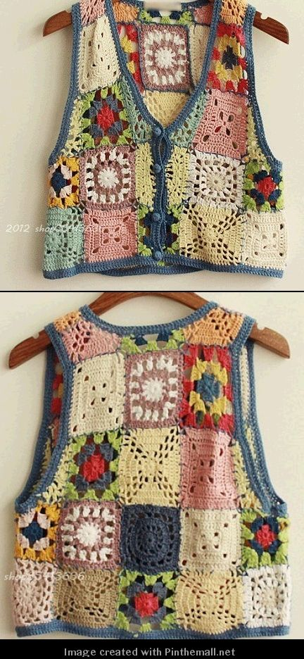 crochet granny vests... :)
