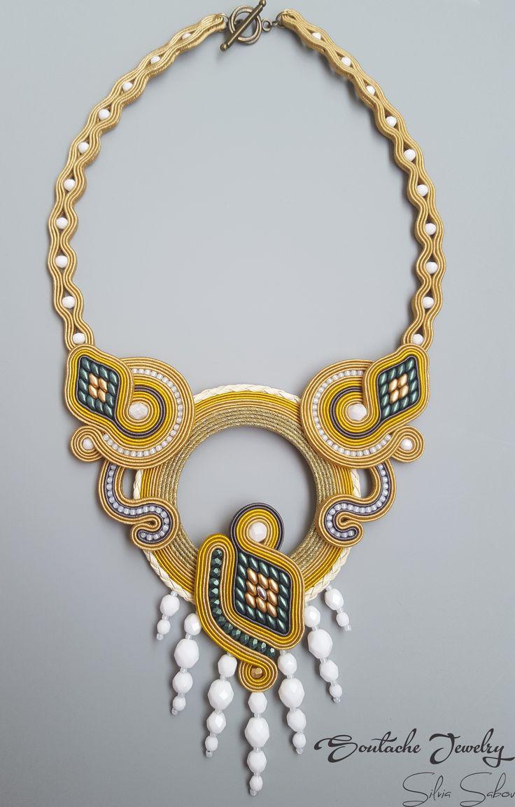 Tequila Unique handmade soutache necklace