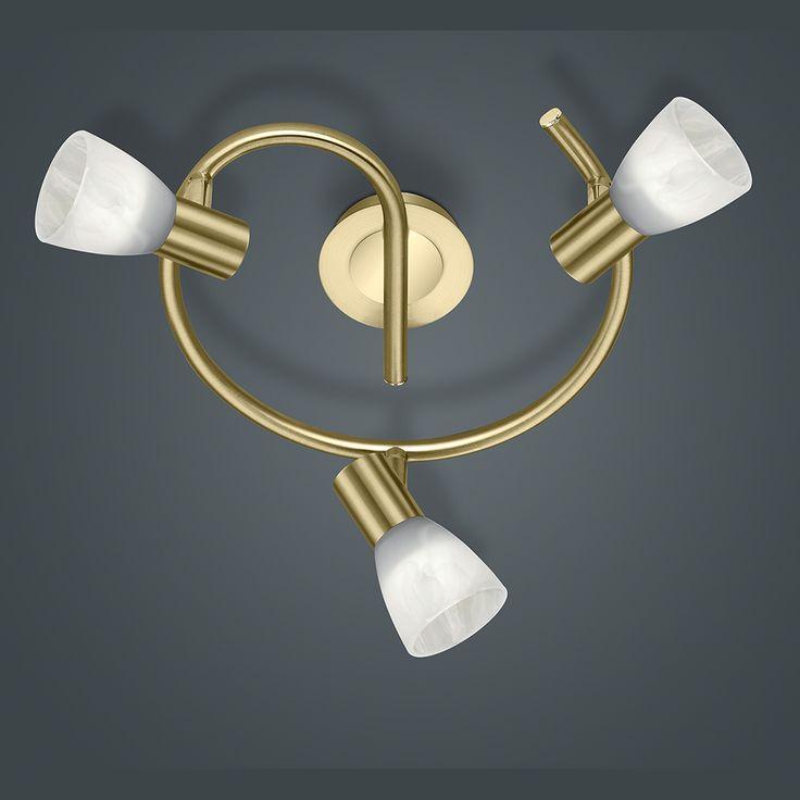 LED-Schnecke in Messing mit drei LED-Spots und 30 cm Durchmesser