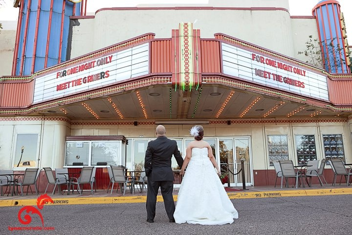 Vintage Hollywood Movie Theater Themed Wedding