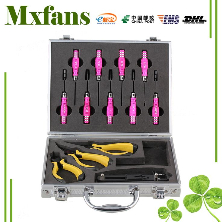 ==> [Free Shipping] Buy Best Mxfans 13PCS Silver T10001 Alloy RC Screwdriver Pliers with Case for All Scale RC Car Online with LOWEST Price   32588698505