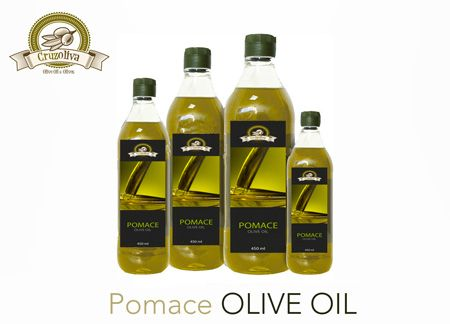 Pomace Olive Oil already packed from Cruzoliva brand.