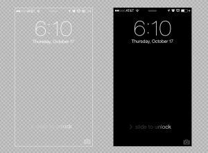 iPhone 5 Lock Screen Background Template - PSD