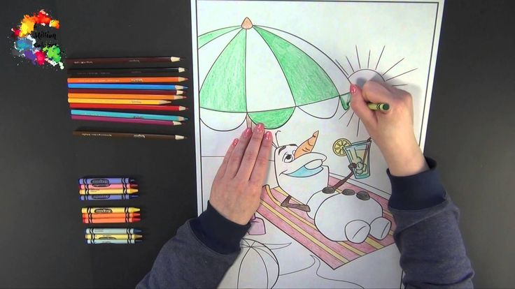 Fun Colouring Olaf From Frozen (GIANT DRAWING)!