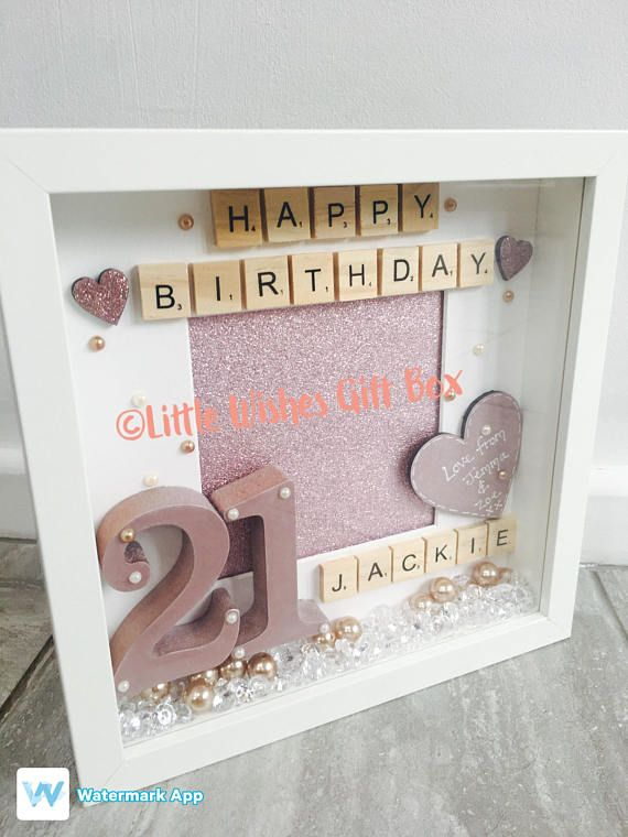 21st Birthday Celebration Box Photo Frame Can Be Made For Any Age In Colours Add Your Own Message Too An Extra Special Gift With Quality