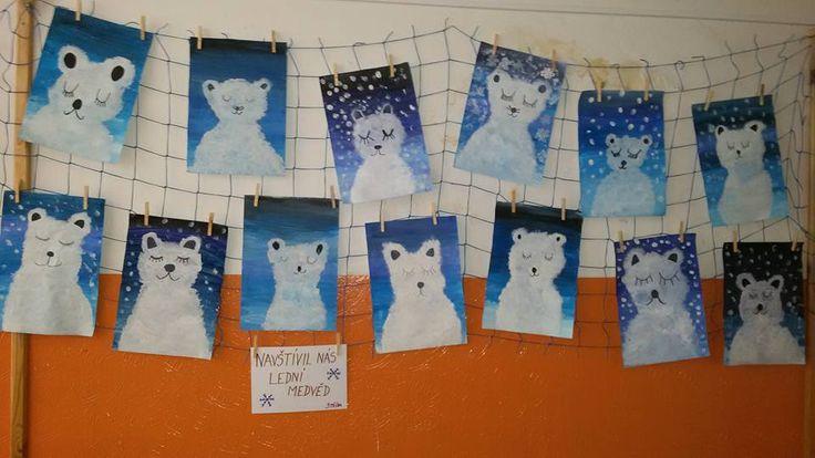 Lední medvědi Výtvarná výchova 3. třída