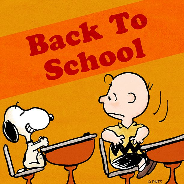Image result for peanuts gang back to school