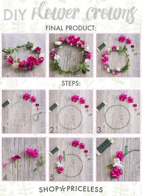 DIY Flower Crown This may be one of the simplest crafts I've ever done! It was super easy and lots of fun, and the best part is that you can make so many different variations of it! Itwouldbe a great craft for you and your girlfriends before you hit music festivals this season, so read on to learn how you can make your own flower crown . . . Want great tips and hints about arts and crafts? Go to this fantastic site!