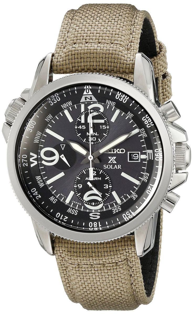 Amazon.com: Seiko SSC293P1 Prospex Men's Solar Military Alarm Chronograph 100m Water Resistant,SSC293: Seiko: Watches