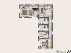 Bildergebnis für grundriss bungalow u-form