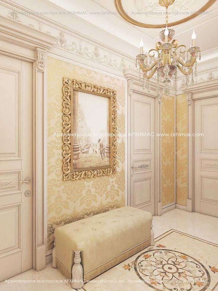 Дизайн интерьера в 2-х комнатной квартире стиль Неоклассика Жилой комплекс (ЖК) Армейский Одесса  Объект: Двухкомнатная квартира Общая площадь:  - 90,00 м2 Жилых комнат - 2 Ванных и с/у - 2